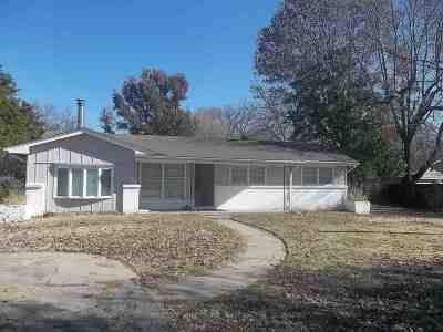 Wichita KS Single Family Home For Sale: $109,900