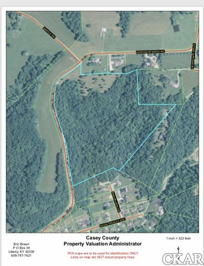 Casey County Residential Lots & Land For Sale: 1000 Woodrum Ridge Road