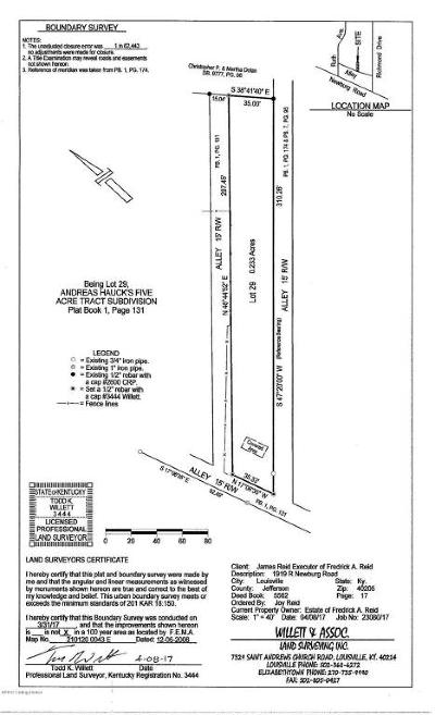 Highlands Residential Lots & Land For Sale: 1919 Newburg Rd #R