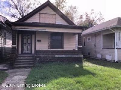 Louisville KY Single Family Home For Sale: $42,000