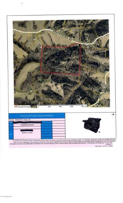 Shelby County Residential Lots & Land For Sale: 1999 Hansborough Rd #1999 ha