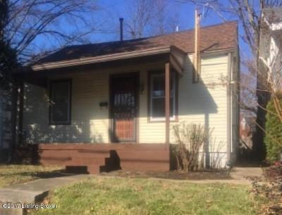 Louisville KY Single Family Home For Sale: $117,000