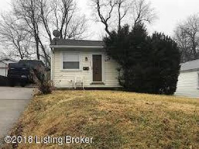 Louisville KY Single Family Home For Sale: $60,000