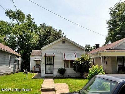 Louisville KY Single Family Home For Sale: $35,000