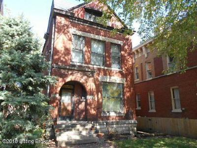 Old Louisville Single Family Home Active Under Contract: 121 E Ormsby Ave
