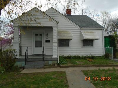 Louisville KY Single Family Home For Sale: $83,900