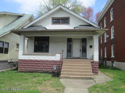 Louisville KY Single Family Home For Sale: $26,500