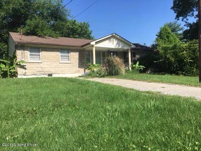 Louisville KY Single Family Home For Sale: $114,400