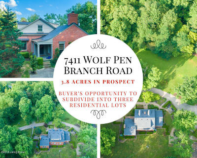 Prospect Single Family Home For Sale: 7411 Wolf Pen Branch Rd