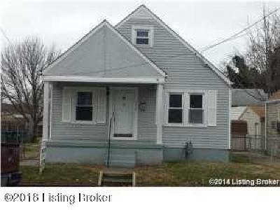 Louisville KY Single Family Home For Sale: $72,500