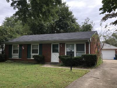 Jeffersontown KY Single Family Home For Sale: $177,000