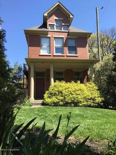 Old Louisville Condo/Townhouse For Sale: 1239 S 2nd St #A