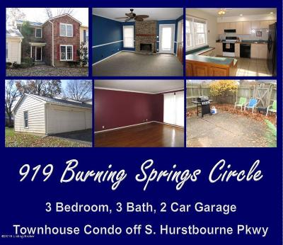 Condo/Townhouse For Sale: 919 Burning Springs Cir