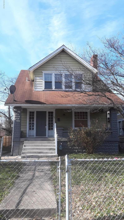 Louisville KY Single Family Home For Sale: $59,000