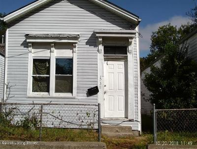 Louisville KY Single Family Home For Sale: $13,000