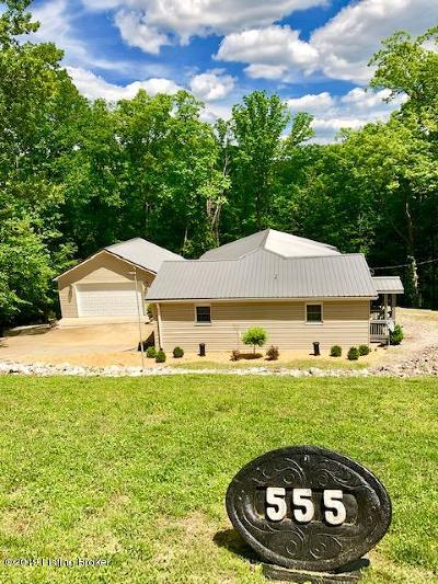 Leitchfield, Caneyville, Clarkson, Big Clifty Single Family Home For Sale: 555 Red Bud Ln