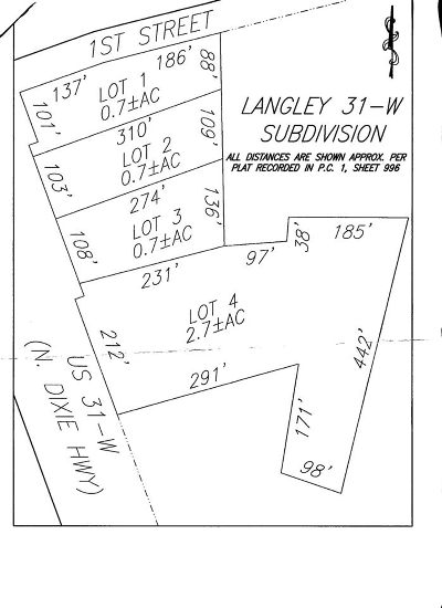 Elizabethtown Commercial For Sale: Lot 3 Dixie Highway