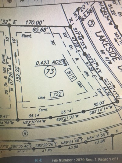 Elizabethtown Residential Lots & Land For Sale: 608 Freeman Lake Road