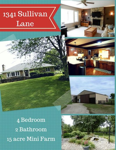 Bardstown Single Family Home For Sale: 1341 Sullivan Lane