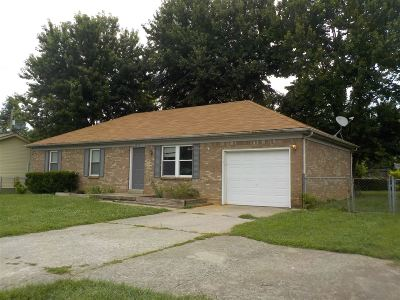 Radcliff KY Single Family Home For Sale: $114,900