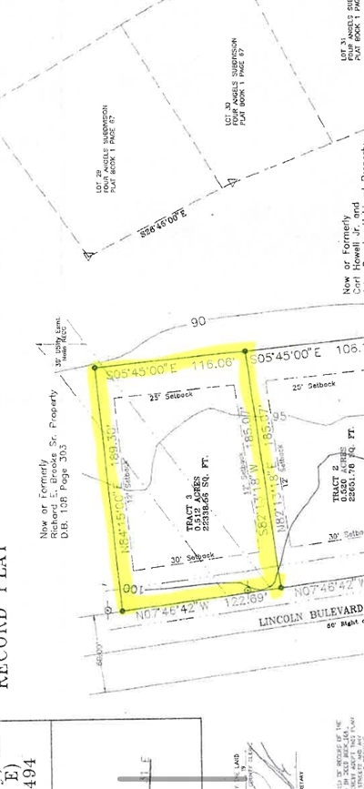 Hodgenville Commercial For Sale: Tract 3 S Lincoln Boulevard