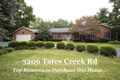 Lexington Single Family Home For Sale: 3206 Tates Creek Road