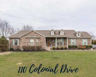 Nicholasville Single Family Home For Sale: 110 Colonial Drive