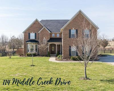 Nicholasville Single Family Home For Sale: 114 Middle Creek Drive