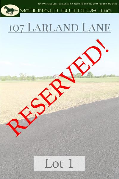 Versailles Residential Lots & Land For Sale: 107 Larland Lane #1