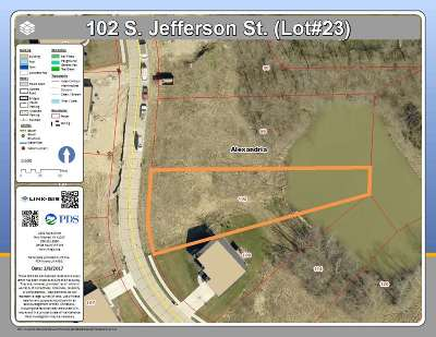 Alexandria Residential Lots & Land For Sale: 102 S Jefferson Street #lot25