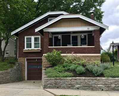 Fort Thomas Single Family Home For Sale: 72 Lumley Avenue