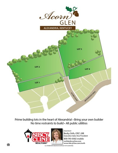 Alexandria Residential Lots & Land For Sale: 10 Acorn Court #lot3