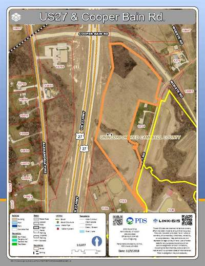 Alexandria Residential Lots & Land For Sale: Us 27 & Cooper Bain (Woeste) Road