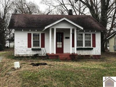 Princeton KY Single Family Home For Sale: $39,000