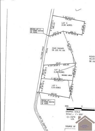 Ledbetter Residential Lots & Land For Sale: Lot 2 Gillahan Road