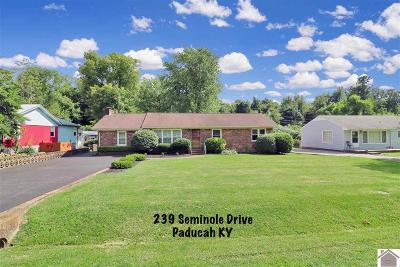 McCracken County Single Family Home For Sale: 239 Seminole Drive