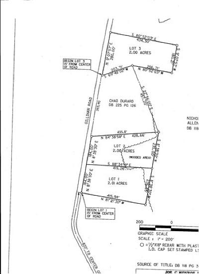 Ledbetter Residential Lots & Land For Sale: Lot 1 Gillahan Road