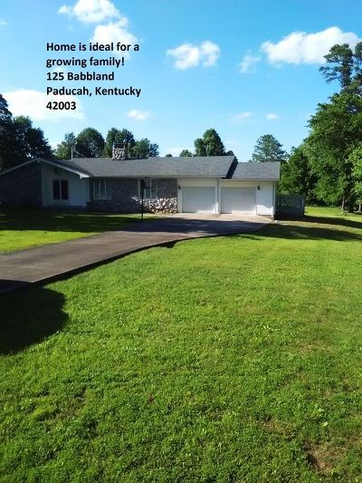 Paducah KY Single Family Home For Sale: $118,000