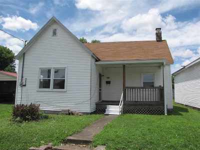 Paducah KY Single Family Home For Sale: $39,900