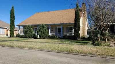 Houma Single Family Home For Sale: 1611 Chantilly Drive