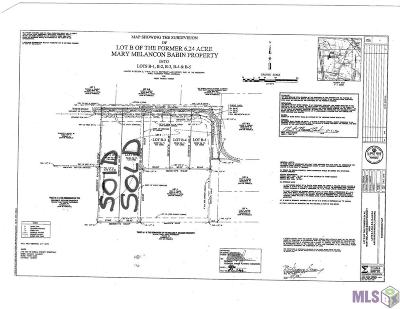 Prairieville Residential Lots & Land For Sale: Lot B-5 White Rd