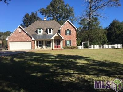 Denham Springs Single Family Home For Sale: 9955 Forrest Delatte Rd