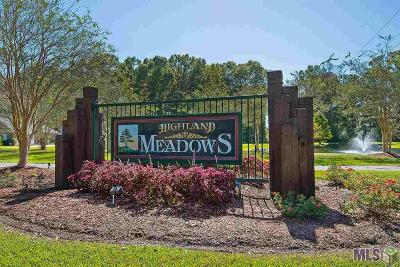 Zachary Residential Lots & Land For Sale: Tbd Highland Meadows Dr