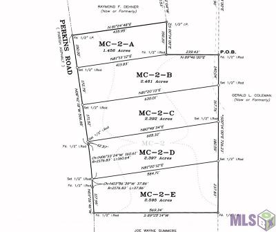 Denham Springs Residential Lots & Land For Sale: Mc-2-B Perkins Rd