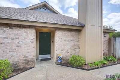 Baton Rouge Condo/Townhouse For Sale: 5133 Blair Ln #D