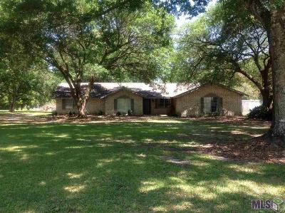 Denham Springs Single Family Home For Sale: 31680 Dunn Rd