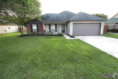 Prairieville Single Family Home For Sale: 17047 W Hunters Trace