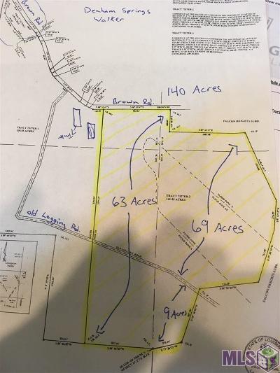 Denham Springs Residential Lots & Land For Sale: Brown Rd