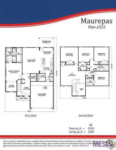 Zachary Single Family Home For Sale: 21317 Barnridge Dr