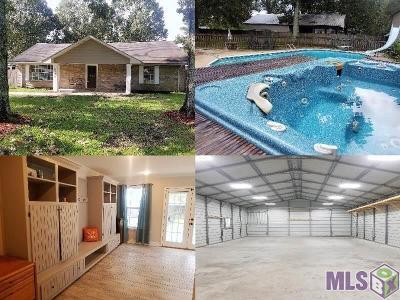 Denham Springs Single Family Home For Sale: 12298 Brown Rd